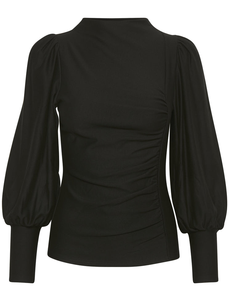 Load image into Gallery viewer, GESTUZ RIFAGZ PUFF BLOUSE BLACK