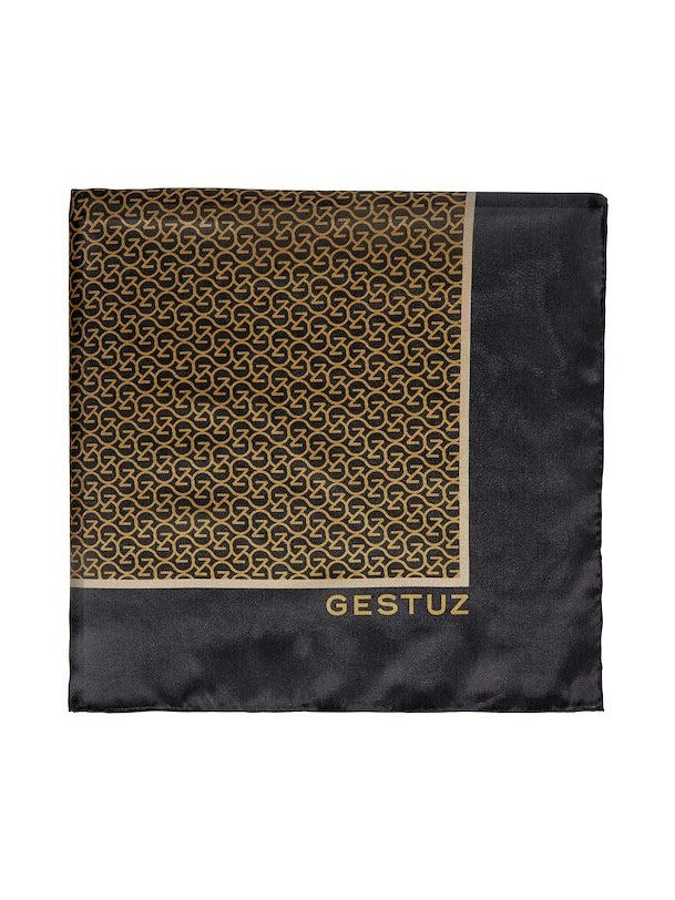Load image into Gallery viewer, GESTUZ SILKGZ SCARF BROWN LOGO