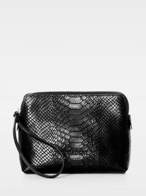 Load image into Gallery viewer, DECADENT HANNAH MAKEUP PURSE ANA BLACK
