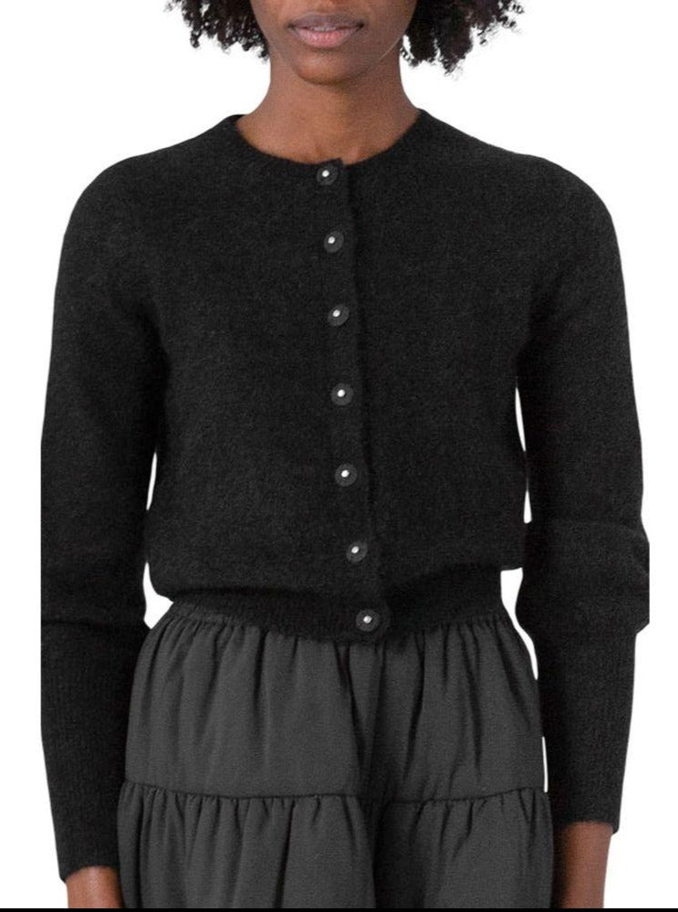 Load image into Gallery viewer, CATHRINE HAMMEL SOFT PETIT CARDIGAN BLACK