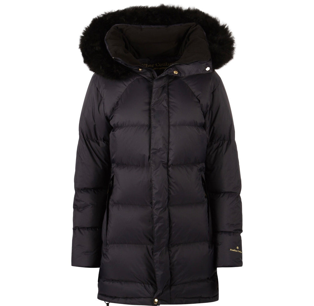 Load image into Gallery viewer, FLEISCHER COUTURE POLARIS DOWN COAT MØRK BLÅ (DEEP WELL)