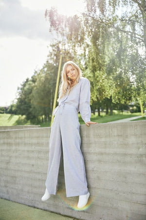 UNTOLD STORIES HARPER TROUSERS AQUA GREY