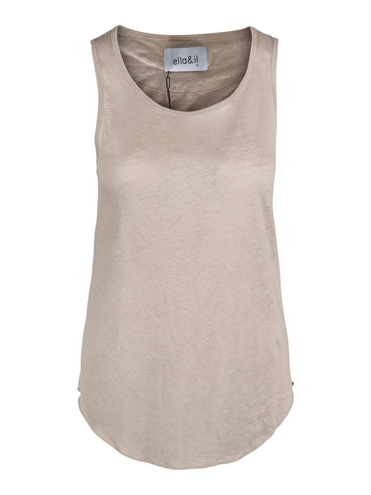 Load image into Gallery viewer, ELLA&IL RIKKE LINEN SINGLET BEIGE