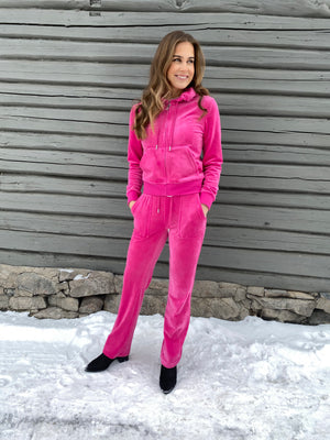 JUICY COUTURE VELOUR PANT DEL RAY RASPBERRY ROSE