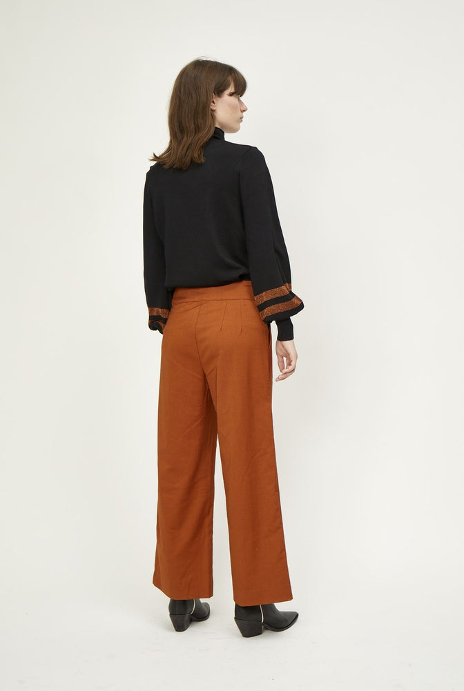 JUST FEMALE MAXIMO TROUSERS GULLBRUN