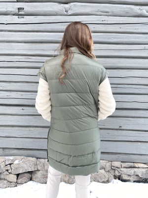Load image into Gallery viewer, BUSNEL IRIA DOWN COAT OLIVE GREEN