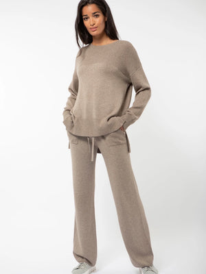 Load image into Gallery viewer, CAMILLA PIHL SVALBARD TROUSER TAUPE MELANGE
