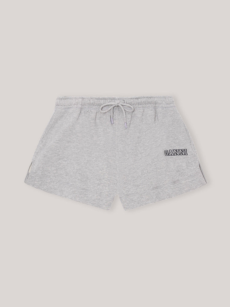 GANNI  ISOLI DRAWSTRING SHORTS GRÅ