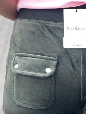 JUICY COUTURE VELOUR PANT NIGHT  DARK MOSS