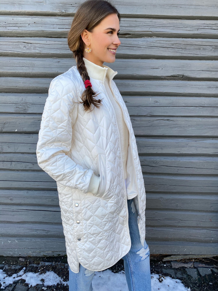 ILSE JACOBSEN PADDED QUILT COAT milk cream
