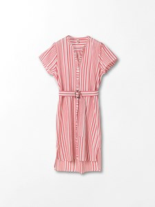 BECKSØNDERGAARD STRIPED CASEY LONG FRUIT PINK