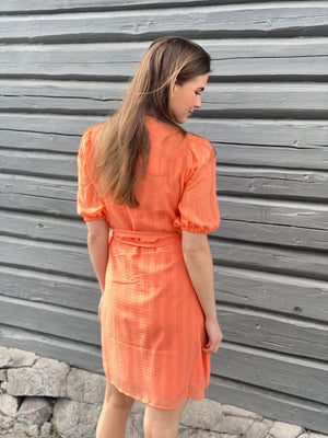 Load image into Gallery viewer, MAUD SUMMER SHORT DRESS PEACH