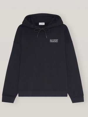 Load image into Gallery viewer, GANNI SOFTWARE ISOLI HOODIE BLACK