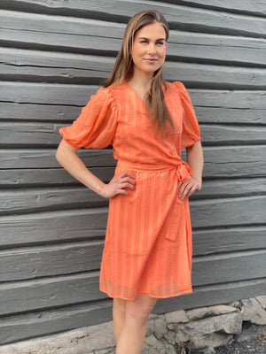 MAUD SUMMER SHORT DRESS PEACH