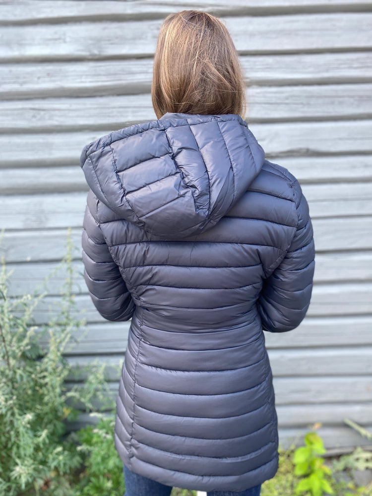SAVE THE DUCK GIGAY KÅPE SORT – Madame Chic