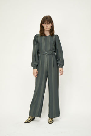 Load image into Gallery viewer, JUST FEMALE POLLY JUMPSUIT GRØNN