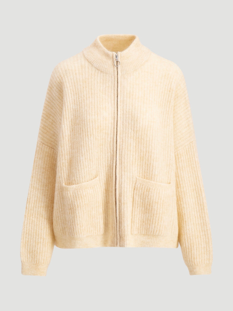 HOLZWEILER PENGUIN KNIT CARDIGAN LIGHT YELLOW