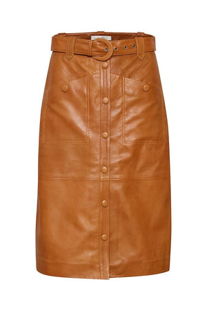 Load image into Gallery viewer, GESTUZ MAIRIGZ SKIRT COGNAC