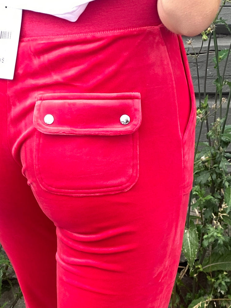 JUICY COUTURE VELOUR PANT ASTOR RED