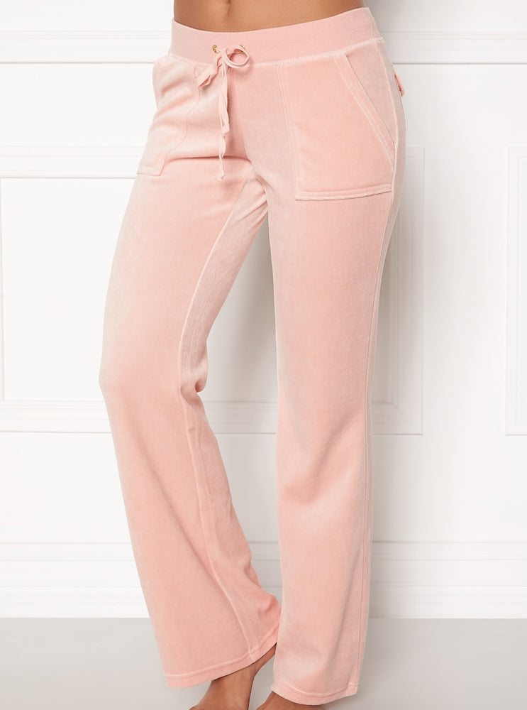 JUICY COUTURE VELOUR PANT PALE PINK