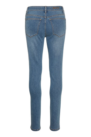 Load image into Gallery viewer, GESTUZ MAGGIEGZ MW SKINNY JEANS LA BLUE