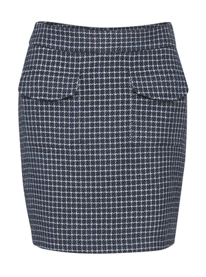 Load image into Gallery viewer, GESTUZ CLEA GZ SKIRT NAVY/WHITE CHECK