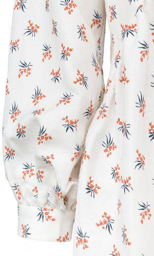 Load image into Gallery viewer, MAUD PRARIE DRESS HVIT MED BLOMSTER