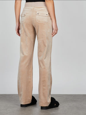 JUICY COUTURE VELOUR PANT WARM TAUPE