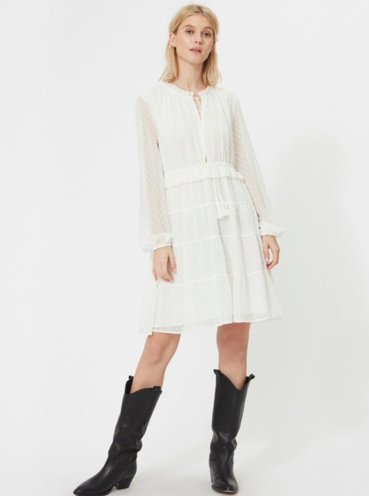 SOFIE SCHNOOR DRESS WHITE