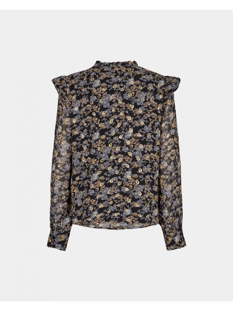 Load image into Gallery viewer, SOFIE SCHNOOR MAI SHIRT SORT M/MØNSTER
