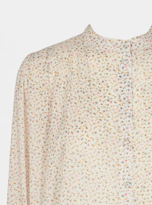 SOFIE SCHNOOR BLUSE lys med blomster
