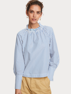 SCOTCH & SODA FEMININE TOP WITH RUFFLE