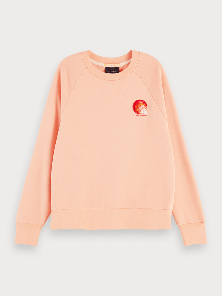 SCOTCH & SODA SWEAT WITH VARIOUS ARTWORKS PEACH