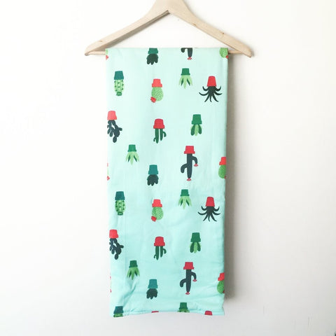 Foldable Travel Quilt - Cactus Fun