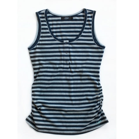 Essentials Striped Breastfeeding Snap Tank