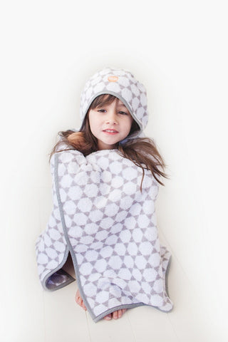 Troupe Hooded Kids Towel - Honeycomb