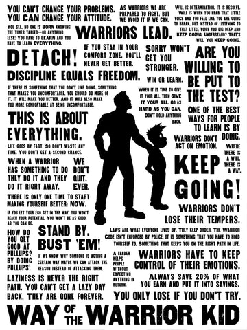 MOTIVATOR Warrior Kid Poster 24 x 32""