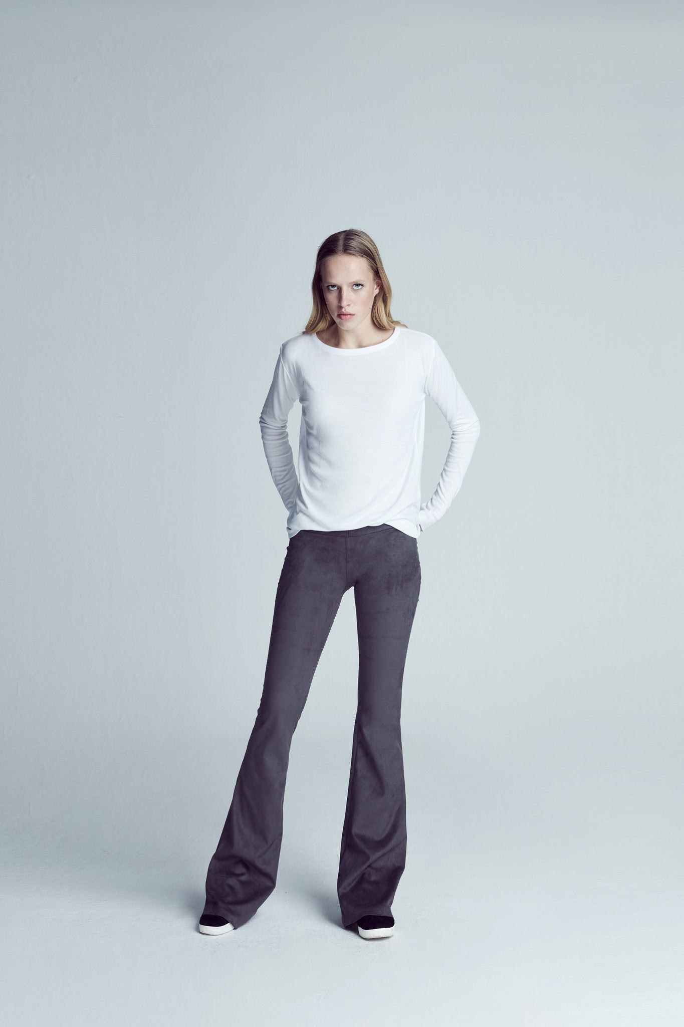 Sense Suede Flared Pant - Anthracite
