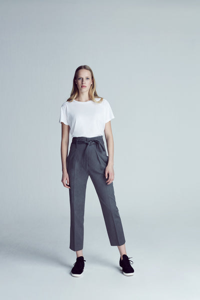Grace High Waist Pant - Grey