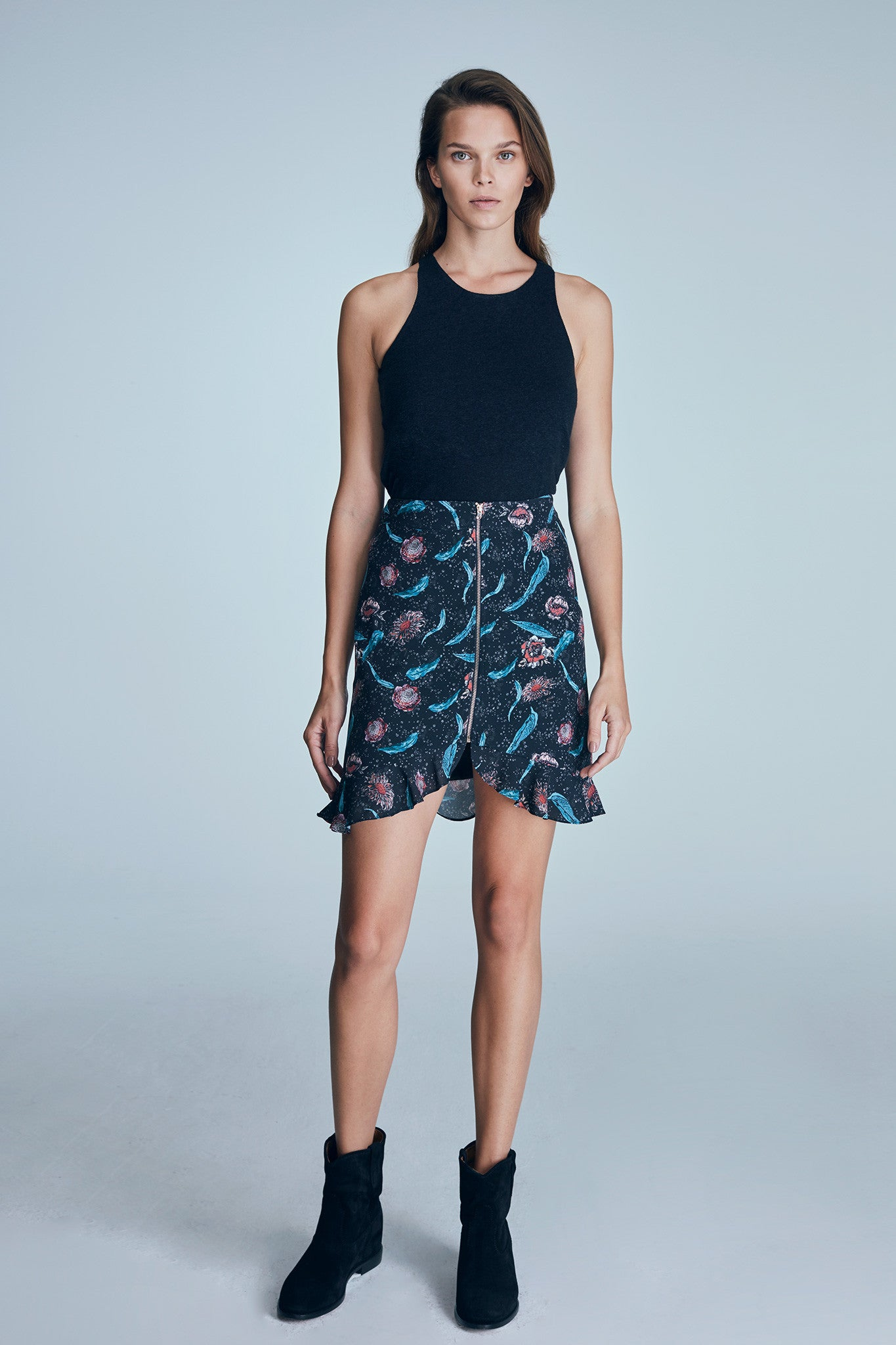 MAYA SKIRT / MULTICOLOR - ANTHRACITE