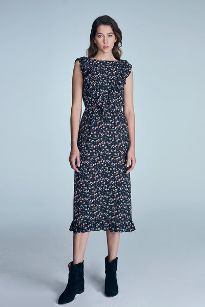 Poet Dress - Floral/Black