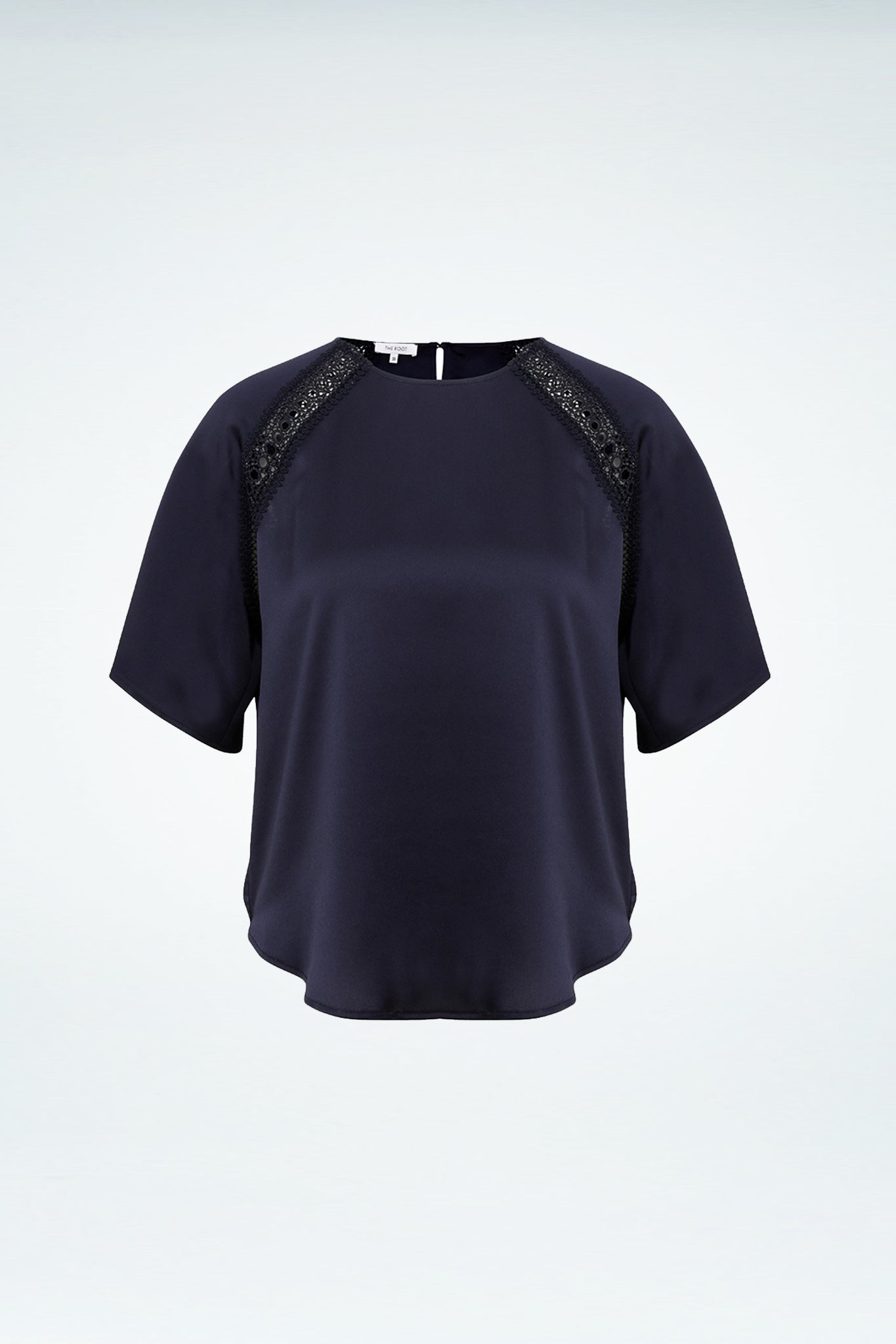 Lacy Top - Navy Blue