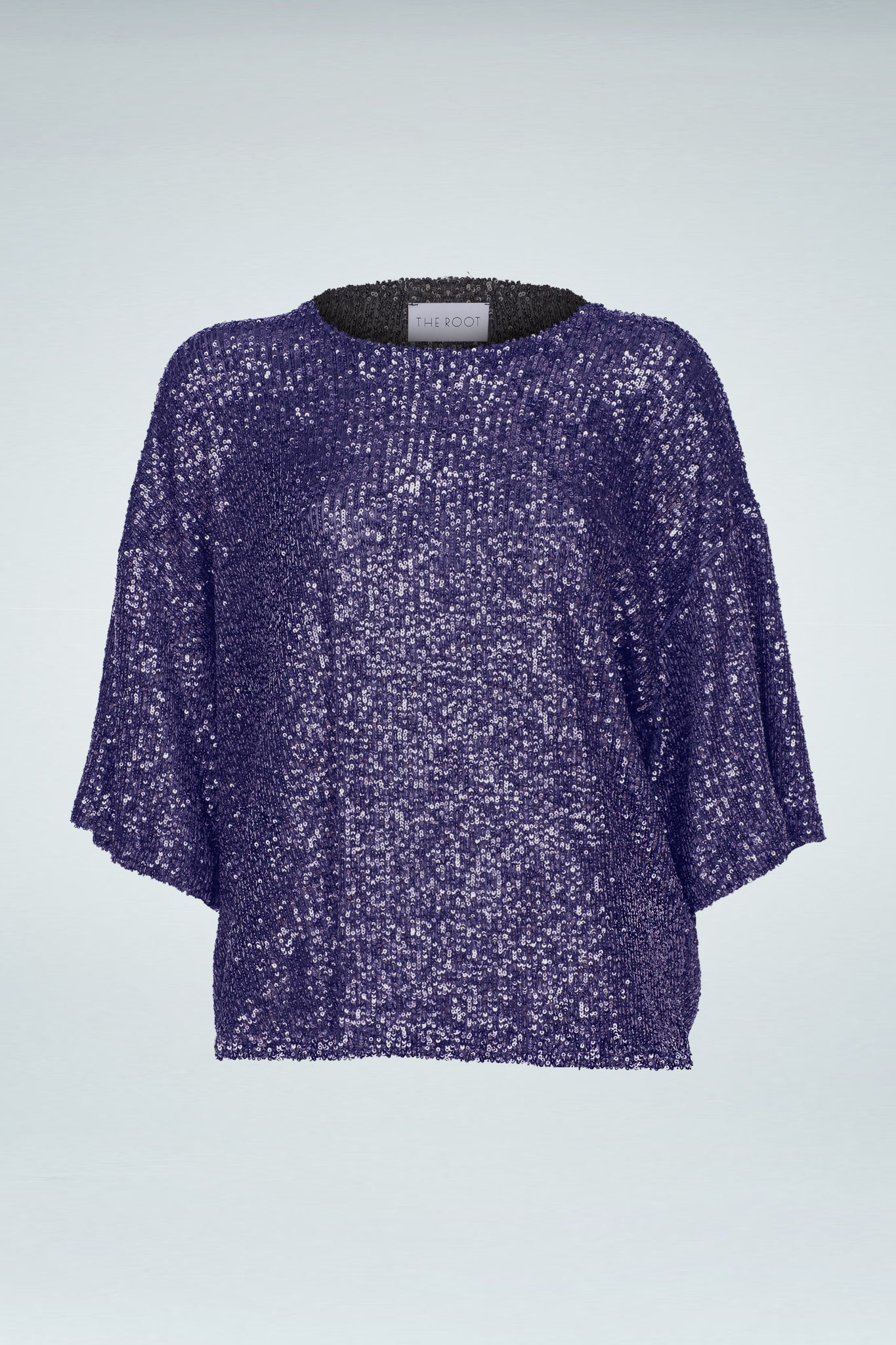 Sequinned Top - Navy Blue