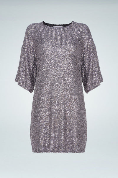 Sequinned Dress - Grey