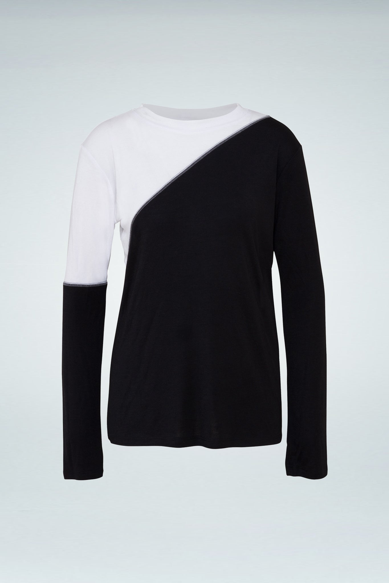 Garni Long Sleeve Blouse - Black/White
