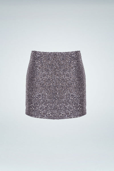 Sequinned Skirt - Grey