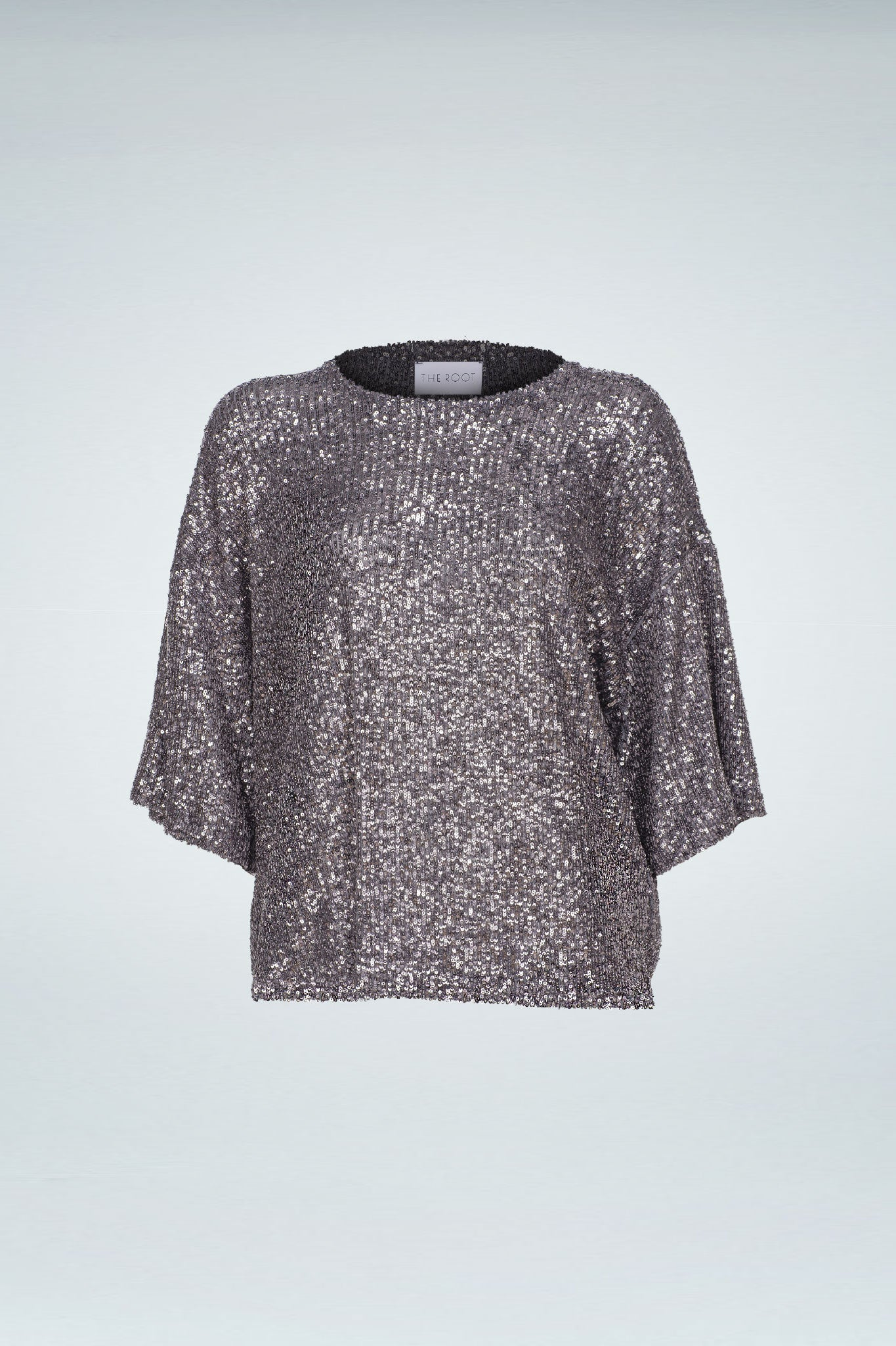 Sequinned Top - Grey