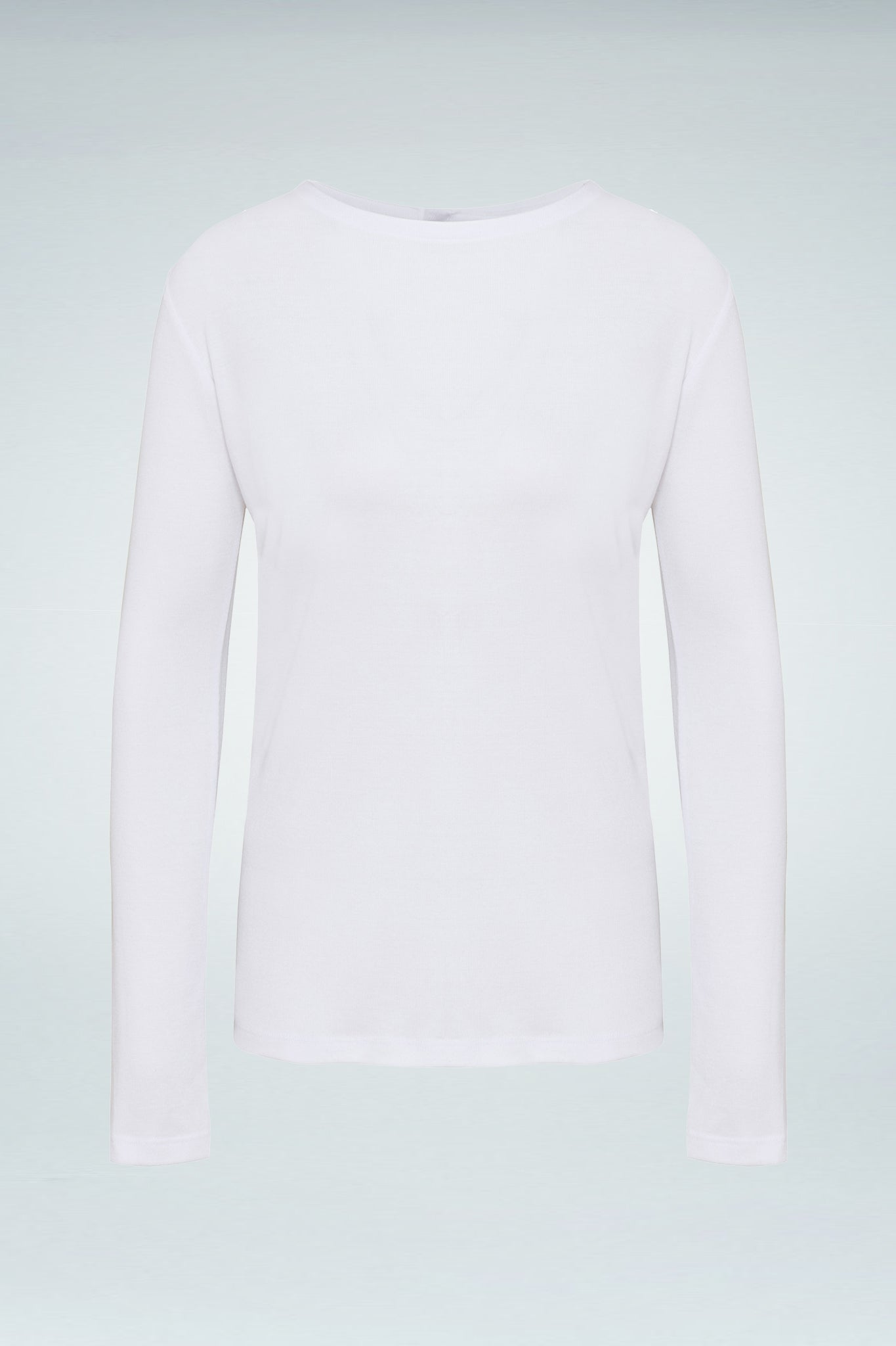 Back-Buttoned Long Sleeve Blouse - White