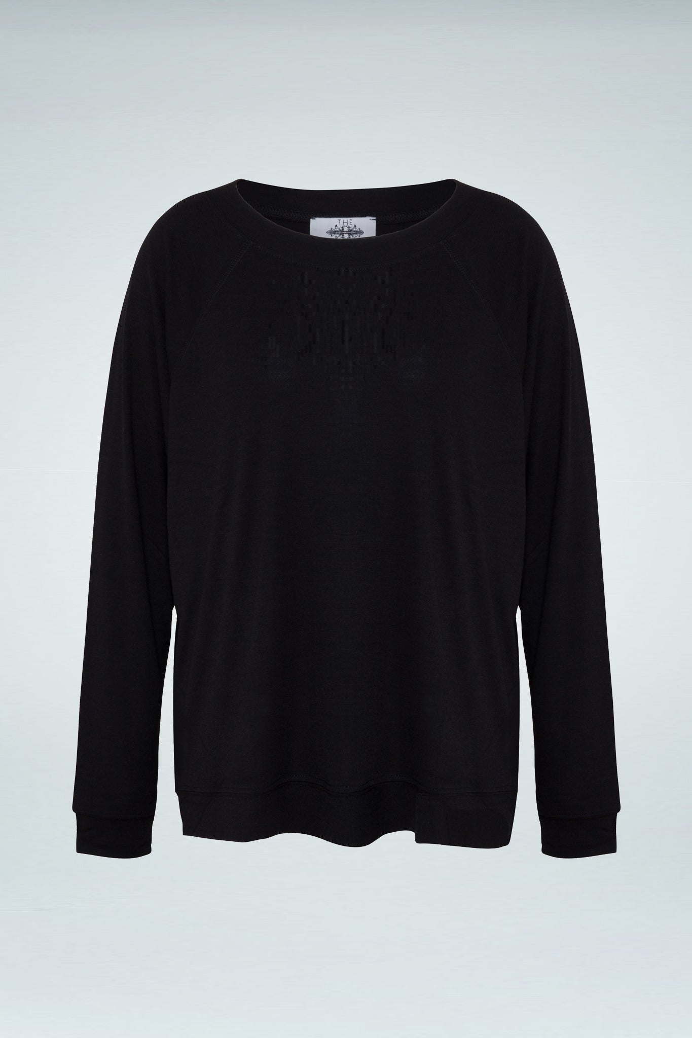 Raglan Long Sleeve Blouse - Black