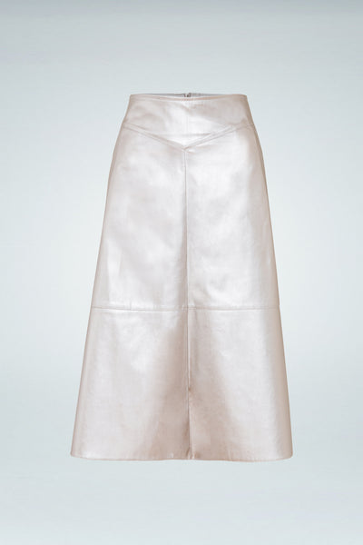 Vivid Skirt - Metallic Gold